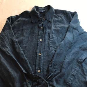 J Crew women's linen shirt size large